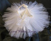 All White Tulle Flower Girl Basket. The Perfect Touch for any Wedding. Comes in other colors.