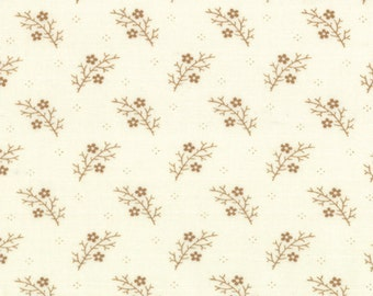 Floral Gatherings Shirting Fabric Collection by Primitive Gatherings  - Tallow Time 1101-27 - 1 Yard