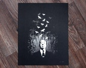 Alfred Hitchcock Birds Limited Edition Screenprint Poster