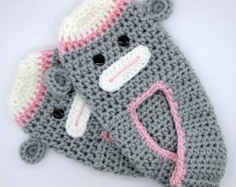 Unisex Crochet Slippers, Sock Monkey Slippers, Teen Slippers, Adult Slippers, Men Slippers, Handmade Slippers, Crochet Slippers