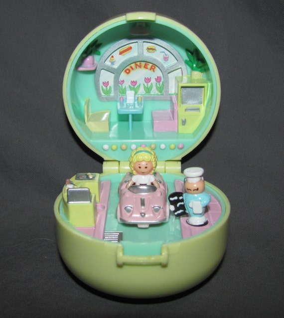 1991 Bluebird Polly Pocket 50 S Diner Ring Complete