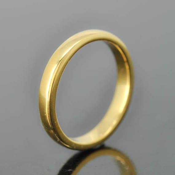 14k yellow gold ring 2mm x 1mm wedding band wedding ring