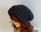 Super Slouchy Beanie #2 Big Slouch Baggy Hat Winter Fall Fashion Chunky Knit Slouch Knitted Hat Large Men Oversized Hat Chunky  ANY COLOR