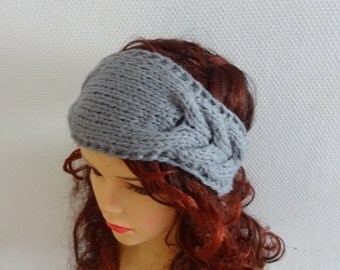 Handmade Knit Cable Headband Plait ANY COLOR Knitted Headband Hand knit headband, head wrap, ear warmer  accessories handmade
