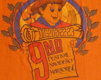 Vintage 80s Festival Navideno Martorell T-Shirt
