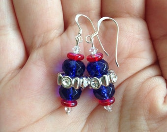 Free Shipping - 4th of July Dangle Earrings