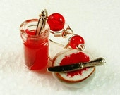 Bread and Jam earrings. Polymer clay.
