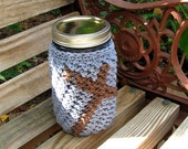 Cozy for QUART size Mason jar - cup - drinking glass - gift container