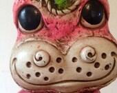 60s Era Whimsical Pink Hippo Bank