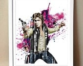 "Art Print - ""The Solo of Han"" - Star Wars Magazine Strip Art - 8x10"