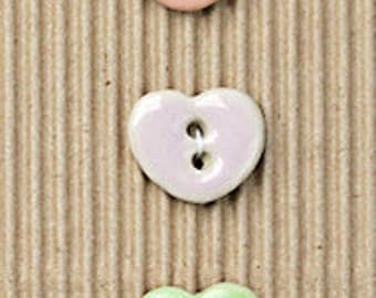 Pastel Heart Buttons