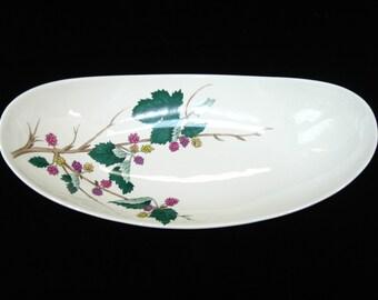 "Eva Zeisel HALLCRAFT ""Mulberry"" Celery Dish or Asparagus Bowl - Hall China"