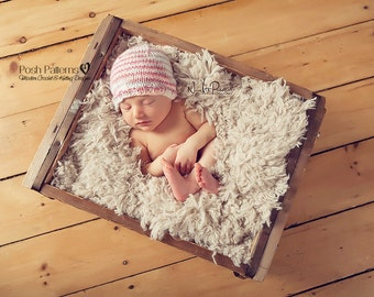 Knitting PATTERN - Easy Knit Hat Pattern - Knitting Pattern Hat - DK Sport Beanie - Knitting Patterns - 7 Sizes Newborn to Adult - PDF 352
