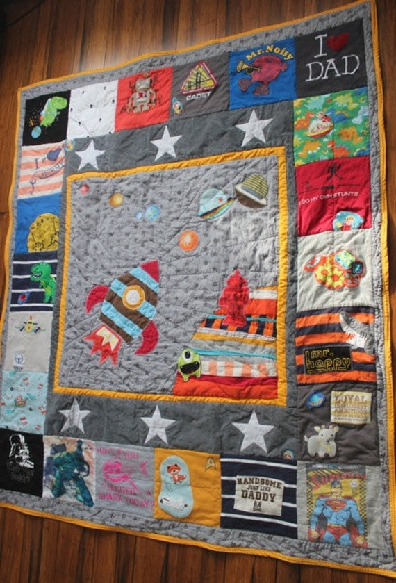 Custom Memory Quilt Using Baby Clothes Or Old Keepsake By