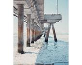 Venice Beach photograph - beach photography - pier art print - home decor wall art - california pier fine art print - metallic art print