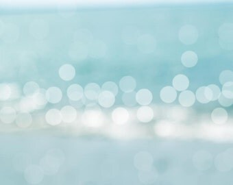 abstract photography large scale nautical decor 24x36 bokeh Photography fine art large ocean photography beach pastel teal coastal print