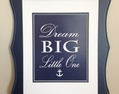 Navy Blue and White Nautical Nursery Decor, Whale Nursery Art, Anchor Nursery Decor - 8x10
