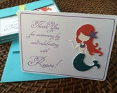 Under The Sea Mermaid Custom Thank You Cards or Note Cards