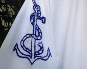Made to Order-Hand Embroidered Anchor Tee