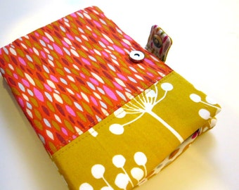 Red and Mustard Drops E-reader Cover