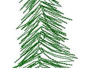 Pine Tree Embroidery Design - Instant Download