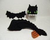 Incredible Night Fury Dragon Outfit Inspired bu How to Train Your Dragon Perfect for  Photo Prop