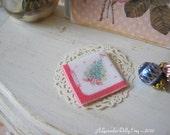 Christmas Tree Napkin for Dollhouse.