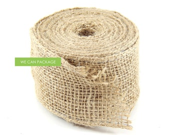 DEAL! 2.5 Inches x 10 Yards Burlap Wired Ribbon DIY Ideas Chair Sash Wedding Decoration Party