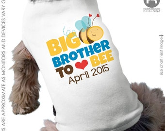 Bumblebee Big Brother Dog Shirt - Bumble bee I am going to be a Big Brother Dog Shirt - Pregnancy Announcement Shirt