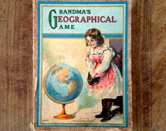 """Antique """"Grandma Geographical  Game""""."""