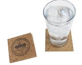 Cleveland City Seal - Cork Coaster Set (Square)
