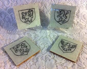 Handmade Shield Coasters