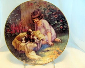 A BASKET FULL, one of the Fond Memories plate collection by M.M. Grimball 1988 Hamilton Collection