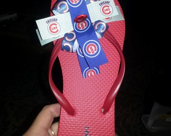 cubs flip flops ( made to order all sizes available)