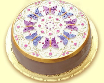 KALEIDOSCOPE BUTTERFLY Cake Topper/ Cookie/ Crafts/ Chocolate Baking Mold