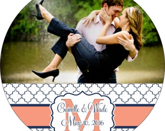 Wedding CD Labels - Custom Designed and Personalized with Your Photo, Text, and Colors