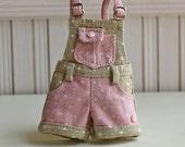 PO - Anniedollz Blythe Outfits Short Pants Overalls - Fudge