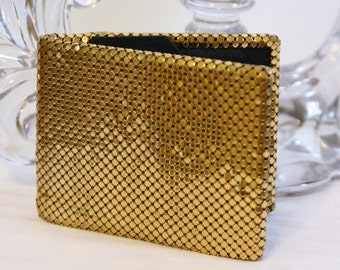 Vtg Whiting and Davis Gold Mesh Wallet