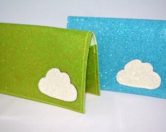 Cloud Glitter Vinyl Billfold Wallet