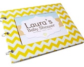 Baby Shower Guest Book - Yellow Chevron