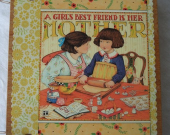 A Girls Best Friend wooden book