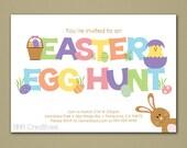 Easter Egg Hunt Invitation - Personalized DIY Printable Digital File