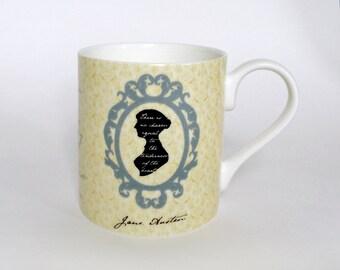 Jane Austen Mug Cup - literary Gift, Writer Gift