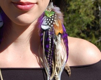 SPELLBOUND Long Feather Earrings