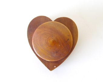 Wooden Heart Shaped Box - Jewelry Box - Engagement Box - Valentine's Box - Walnut or Oak
