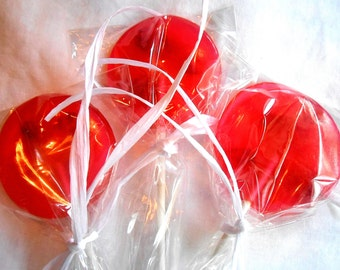 Gourmet,Watermelon Red Rose Petal,  Edible, Giant, Lollipops Candied Fresh Flowers Wedding Favors 25