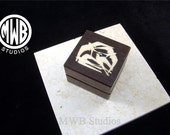Inlaid Ring Box of 4 birds in holly.  Free shipping and engraving.  RB 59