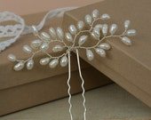 Bud Ivory Pearl Hair Pin Wedding Hair Acessories Bridal Clip Real Pearls Bridesmaid Pin Jewellery Made By Me Etsy UK
