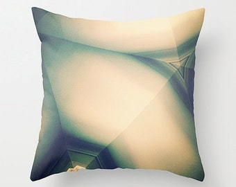 Cream Taupe Sofa Pillow, Geometric Abstraction Accent Pillow, Neutral Throw Pillow Cover, 18x18 24x24 Decorative Pillow Cushion Teal Aqua