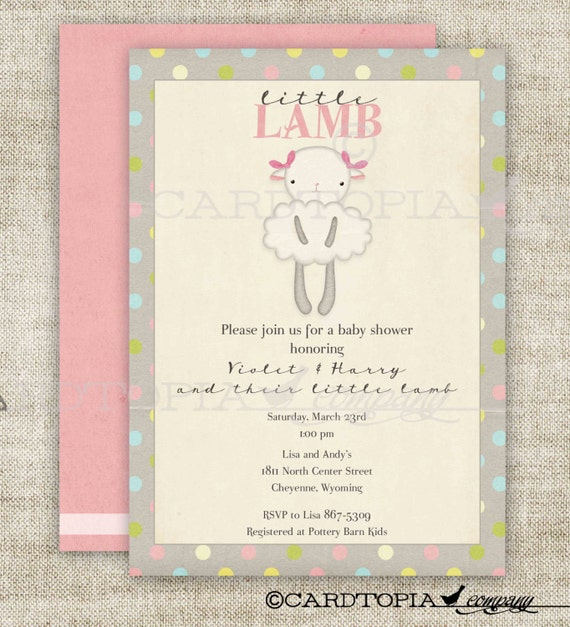 lamb baby shower invitations little lamb vintage shabby chic little